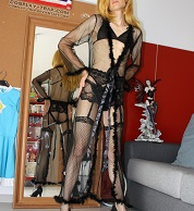 crossplay crossdressing trap femboy sissy sexy black lingerie see-through rosalina cosplay