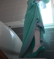 crossplay crossdressing trap femboy nintendo rosalina cosplay milk bath dressing gown