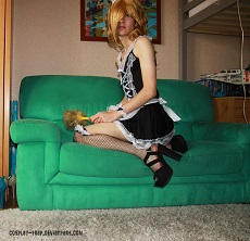princess rosalina maid crossplay crossdressing trap femboy maid anal porn